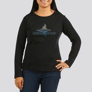 Huntington - Long Women's Long Sleeve Dark T-Shirt