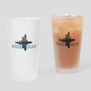 Huntington - Long Island New York. Drinking Glass