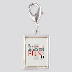 Beautiful Day to Save Lives Silver Portrait Charm