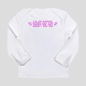 not worried purple Long Sleeve T-Shirt