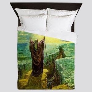 Moses MIracle at the Red Sea Israel Pr Queen Duvet