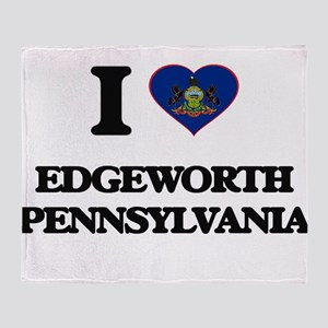 I love Edgeworth Pennsylvania Throw Blanket