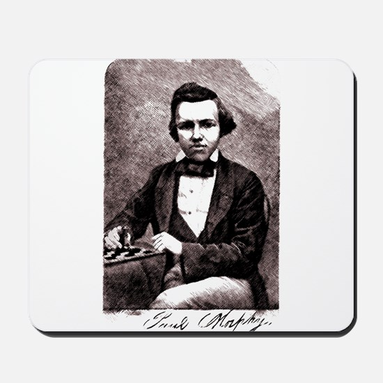 Chess player Paul Charles Morphy America Mousepad