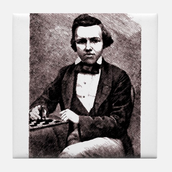 Chess player Paul Charles Morphy Amer Tile Coaster