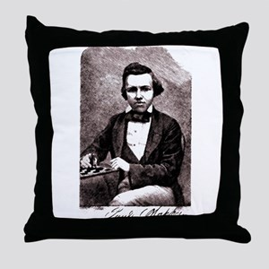 Chess player Paul Charles Morphy Amer Throw Pillow