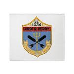 USS JOHN R. PERRY Throw Blanket