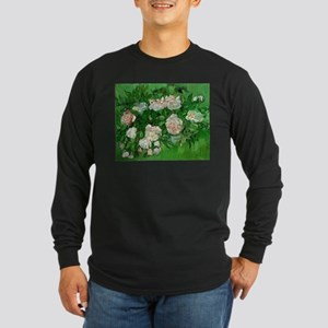 Pink Roses by Vincent van Gogh Long Sleeve T-Shirt