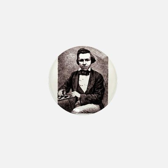 Chess player Paul Charles Morphy Ameri Mini Button