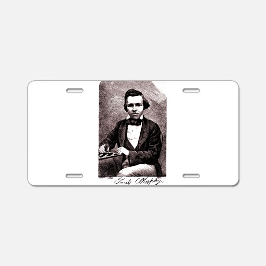 Chess player Paul Charles M Aluminum License Plate