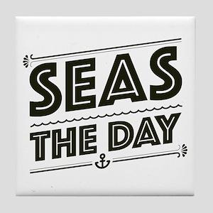 Seas The Day Tile Coaster