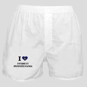 I love Everett Pennsylvania Boxer Shorts