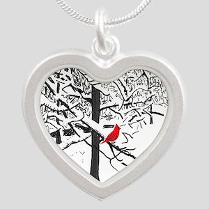 Cardinal Snow Scene Necklaces
