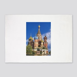 Saint Basil's Cathedral Russian Ort 5'x7'Area Rug