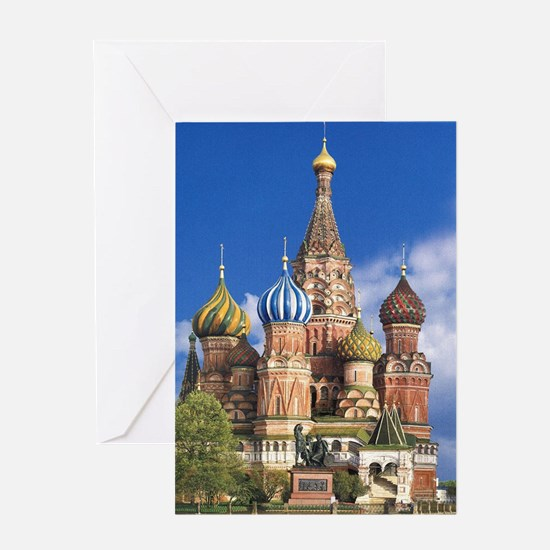 Saint Basil's Cathedral Russian Ort Greeting Cards