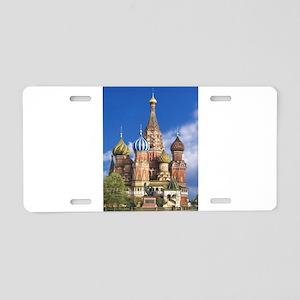 Saint Basil's Cathedral Rus Aluminum License Plate