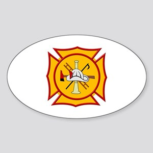 Fire department symbol yell Sticker