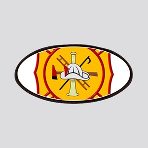 Fire department symbol yellow and red Patch