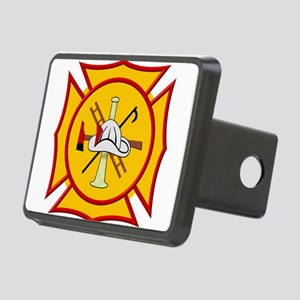 Fire department symbol yel Rectangular Hitch Cover