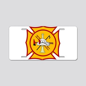 Fire department symbol yell Aluminum License Plate