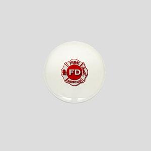 Fire department symbol red Mini Button
