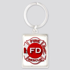 Fire department symbol red Keychains