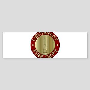 Lieutenant fire department symbol Bumper Sticker