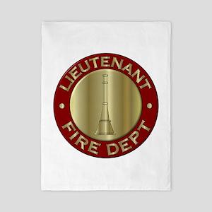 Lieutenant fire department symbol Twin Duvet