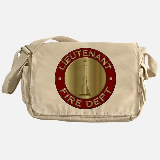 Lieutenant fire department symbol Messenger Bag