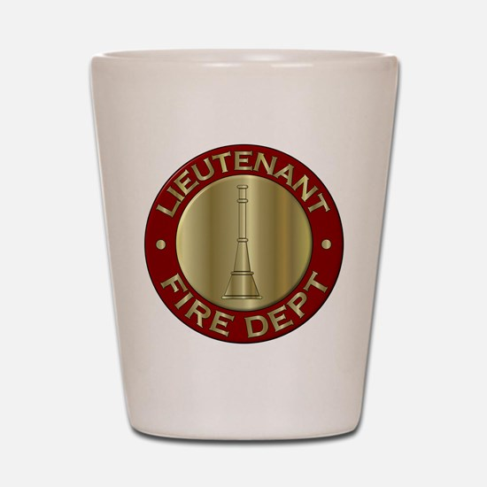Lieutenant fire department symbol Shot Glass
