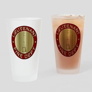 Lieutenant fire department symbol Drinking Glass
