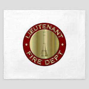 Lieutenant fire department symbol King Duvet