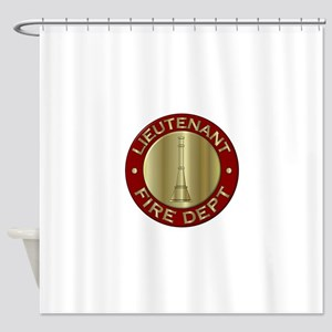Lieutenant fire department symbol Shower Curtain