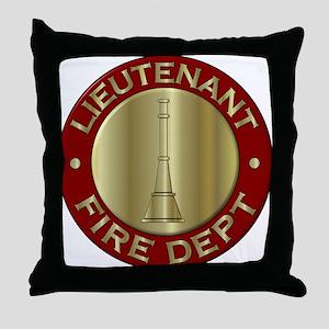 Lieutenant fire department symbol Throw Pillow