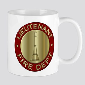 Lieutenant fire department symbol Mugs