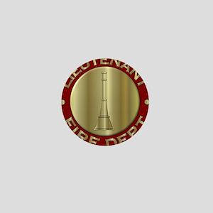 Lieutenant fire department symbol Mini Button