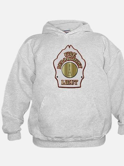 Fire department Lieutenant white helme Hoodie