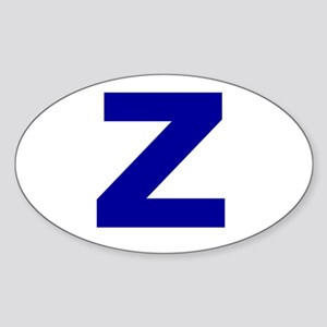 Z Oval Sticker