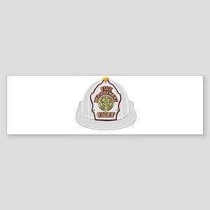 White fire chief helmet Bumper Sticker