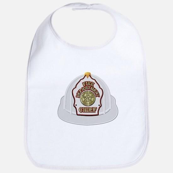 White fire chief helmet Bib