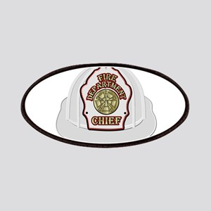 White fire chief helmet Patch