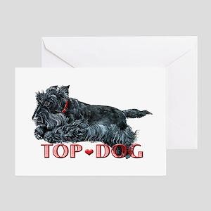 Top Dog Scottish Terrier Greeting Card