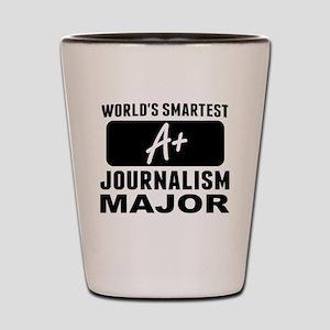 Worlds Smartest Journalism Major Shot Glass