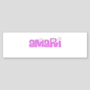 Amari Flower Design Bumper Sticker