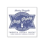 Stag Party Logo Blue Jpeg Sticker