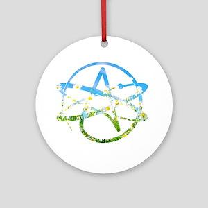 Springtime Atheist Round Ornament