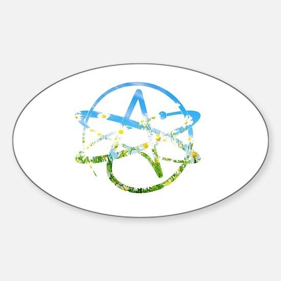 Springtime Atheist Sticker (Oval)