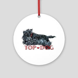 Top Dog Scottish Terrier Ornament (Round)