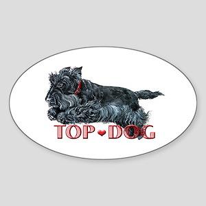 Top Dog Scottish Terrier Oval Sticker