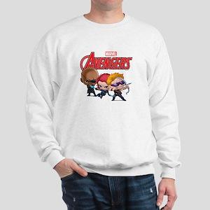 Chibi Hawkeye-Widow-Fury Stylized Sweatshirt
