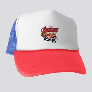 Chibi Hawkeye-Widow-Fury Stylized Trucker Hat